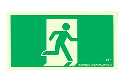 Emergency Lighting Exit Sign Photoluminescent Sign